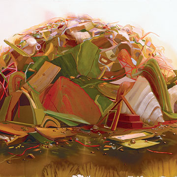 Angelina Gualdoni, Pile, 2007, Acrylic and oil on canvas