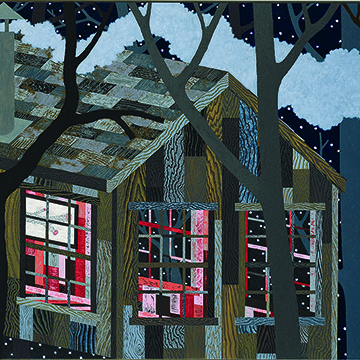Benjamin Degen, Branch House, 2006, Oil on canvas on board, Collection Nerman Museum of Contemporary Art,