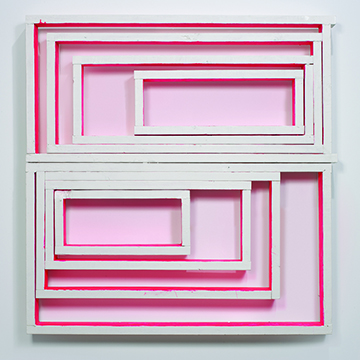 Cordy Ryman, Window Box, 2010, Acrylic and enamel on wood, Collection Nerman Museum of Contemporary Art,