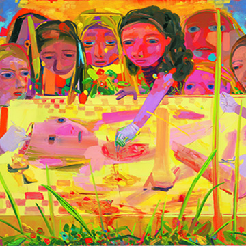 Dana Schutz, Surgery, 2004, Oil on canvas, Collection Nerman Museum of Contemporary Art,