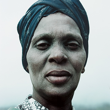 Jackie Nickerson, Grandmother, Masiphumelele Township, Western Cape, South Africa, 1998, Lambda print