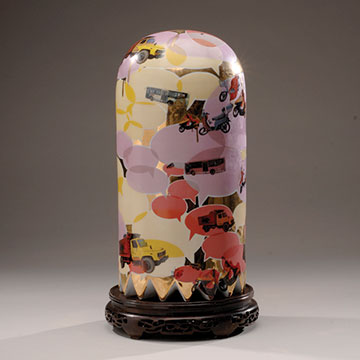Jesse Small, Clyde Tall Ghost, 2010, Porcelain, decals and luster