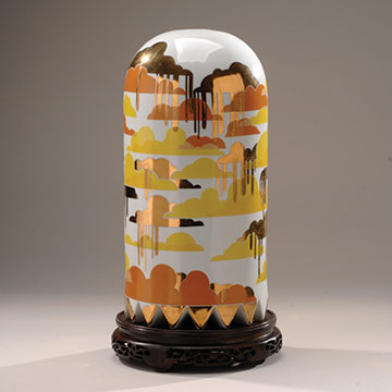 Jesse Small, Sunset Tall Ghost, 2010, Porcelain, decals and luster
