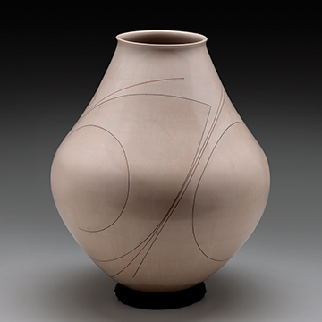 Diego Valles, Jar, 2013, Clay and clay slips