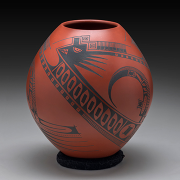 Juan Quezada, 4 Bird Head Olla Pot, n.d., Clay