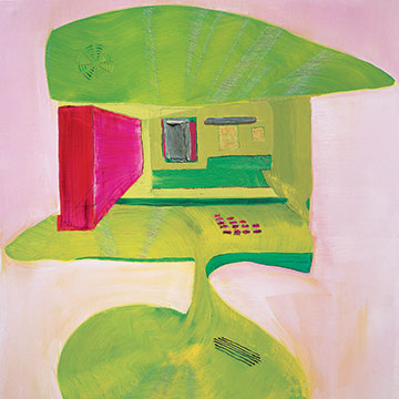 Andrzej Zielinski, Green ATM, 2005, Oil on linen over panel