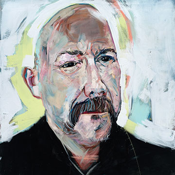 David Gant, Portrait of Bruce Hartman, 2010, Oil and latex on canvas