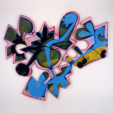 Elizabeth Murray, Landing, 1999, Oil on canvas