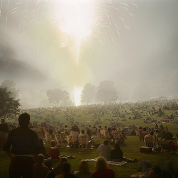 Mike Sinclair, Fireworks #2, July 4th, Independence, MO, 1997, 1998, Chromogenic print