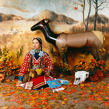 Wendy Red Star, Fall (The Four Seasons series), 2006, Archival pigment print on Museo silver rag on dibond