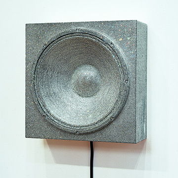Nadine Robinson, Rock Box No. 2, 2006, Rhinestones, plastic, speaker, amplifier, digital music