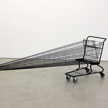 Ryan Johnson, Metal Shopping Cart, 2015, Steel, paint, rubber, hardware
