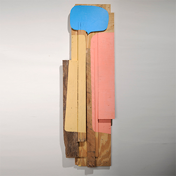 Justin Bergin, Conversation Piece, 2010, Paint on wood