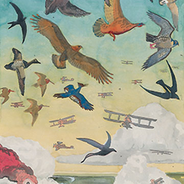 Aaron Morse, Flight, 2006, Watercolor on paper