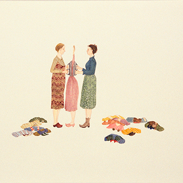 Amy Cutler, Ironing, 2003, Gouache on paper