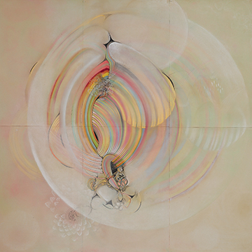 Amy Myers, Chroma Zoma Bubble Chamber, 2006, Graphite, colored pencil and pastel on paper