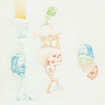 Jeff Davis, These Yearning Hierarchies Evolve and Compress, 2005, Colored pencil on paper