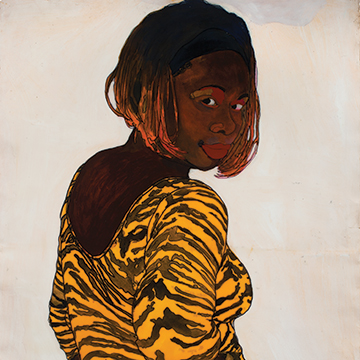 Mickalene Thomas, Quanikah No. 1, 2004, Acrylic, oil paint and pen on paper