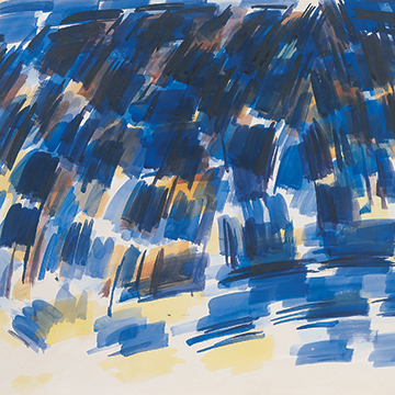 Wilbur Niewald, Mountains II, 1961, Watercolor on paper